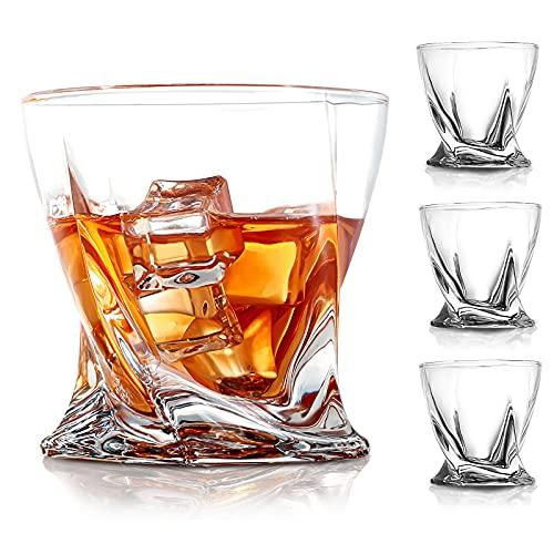 COPLIB Whiskey Glasses Set of 4 -11 OZ Old Fashioned Glasses/Premium Crystal Glasses, Perfect for...