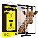 [2-Pack] Yoyamo Gl09 Tempered Glass Screen Protector for Samsung Galaxy Note 9, Full Screen Coverag, Black