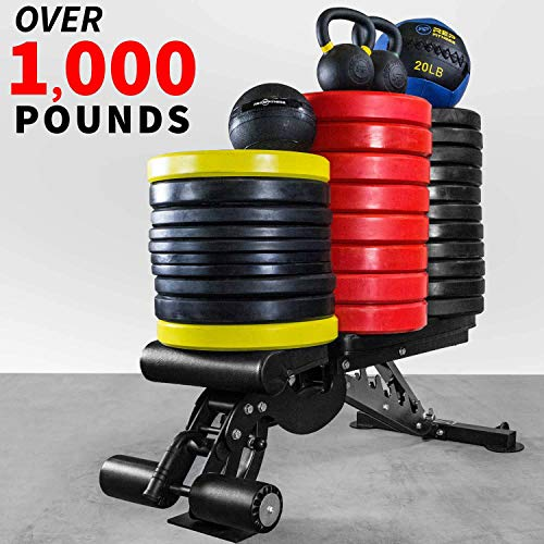 REP FITNESS Adjustable Bench - AB-3000 FID - 1,000 lb Rated - Flat/Incline/Decline