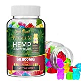 Gummies 60,000mg - Fruity Herbal Gummies for Stress & Anxiety Relief,100% Natural Oil Infused Gummies,Promotes Sleep and Calm Mood