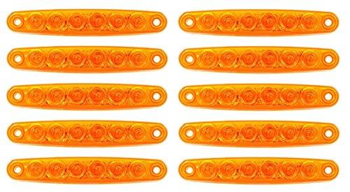 10 x 12 V 6 LED SMD Orange Ambre côté position double Châssis de camion de feux de gabarit pour camping-car camping-car caravane Bus van