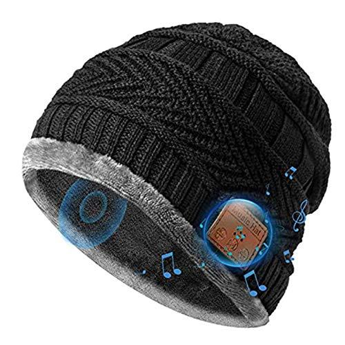 Bluetooth-Mütze, kabellos, gestrickt, mit Stereo-Lautsprechern, perfekt für Outdoor-Übungen und Workout.
