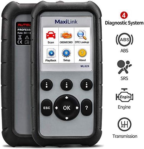 Autel OBD2 Scanner Diagnostic Code Reader ML629 ABS SRS Engine Transmission MaxiLink 629 Car product image