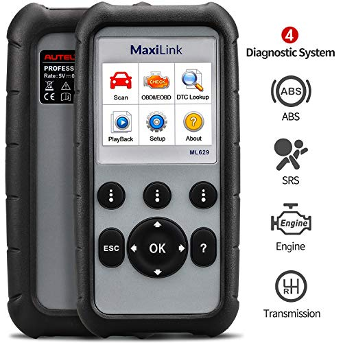 Autel OBD2 Scanner Diagnostic Code Reader ML629 - ABS/SRS/Engine/Transmission MaxiLink 629 Car Diagnostic Tool DTC Lookup AutoVIN Mechanic Car OBDii for Vehicle Engine/Transmission/AirBag/Brake System