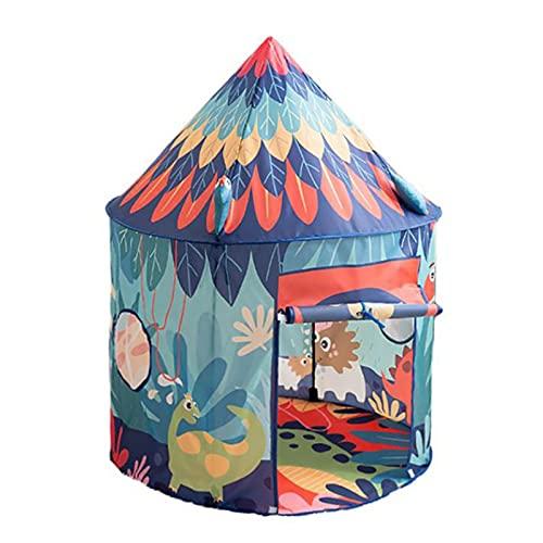 Casetta pieghevole per bambini, con dinosauro 3D, tenda per bambini, tenda da gioco, tenda da gioco, tenda da gioco per interni ed esterni, ideale come decorazione per la stanza