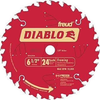 Freud D0624A Diablo 6-1/2-inch 24T ATB Perma-Shield Framing Saw Blades, 10-Pack