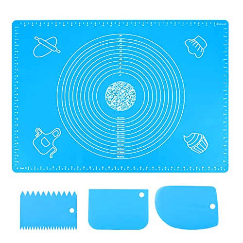 Extra Large 70x50cm Silicone Baking Mat Sheet Pastry Mat with Measurement,...