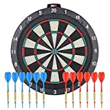 """ONE80 Soft tip Dartboard – 18"""" Safety Plastic Board with 12 Soft tip Darts and Extra 20 Soft Tips, mounting Kits..."""