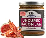TBJ Gourmet Balsamic Fig Bacon Jam - Original Recipe Bacon Spread - Uses Real Bacon, No Preservatives - Authentic Bacon Jams - 9 Ounces