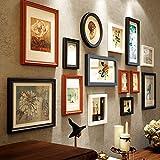 Multi Pack Photo 14 Frame Set Wall Gallery Kit, Cuatro 12x15.9cm, Dos 16.1x21.2cm, Tres 23.4x28.4cm, Dos 18x18cm, Dos 18x33.2cm, uno 20.2x20.2cm