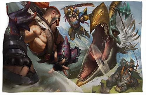 Beasthunters League Legends - Manta con estampado de leyendas (101,6 x 127 cm)