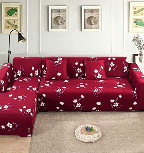 Funda de sofá Funda de sofá elástica Funda de sofá para Sala de Estar Funda de sofá de Esquina en Forma de L Chaise Longue A12 3 plazas