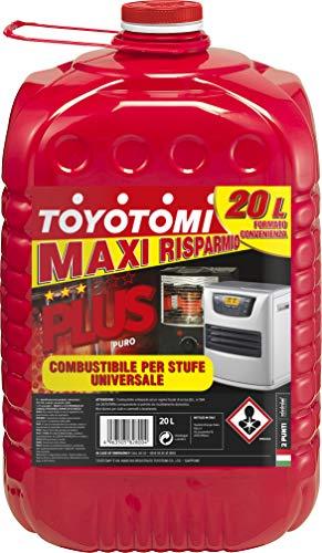 """Toyotomi Plus 20 Litri, Combustibile Universale di alta qualità categoria, """"Puro"""", adatto a tutte le stufe portatili a stoppino ed elettroniche"""