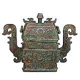 LAOJUNLU Western Zhou Periodo Bronce Dragón Oído Colmillo Yi Antiguo Obra Maestra Colección De Solitaria China Estilo Tradicional Joyería