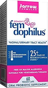 Jarrow Formulas Fem-Dophilus 1 Billion Organisms Per Cap Supports Vaginal and Urinary Tract Health 60 Count  Cool Ship Pack Of 3 Packaging may vary
