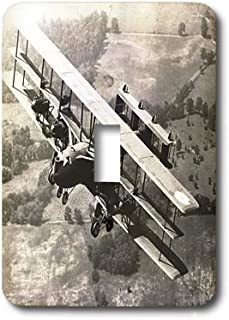 3dRose lsp_184561_1 Print of Black and White Ww I Bomber Airplane Single Toggle Switch