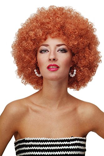 WIG ME UP - Parrucca Afro Anni 70 Parrucca Party Funk Disco Foxy Colore Rosso Rame e Biondo Rame PW0011-P130