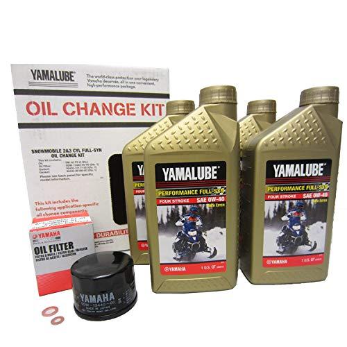 Yamaha Full Synthetic Engine Oil Change & Filter Kit Phazer Nytro Vector Venture LUB-SMBCG-KT-05