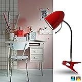 Aigostar 182304 - Lámpara de mesa tipo flexo con pinza de diseño retro