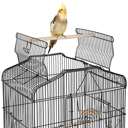 Yaheetech Jaula para Pájaros Jaula Metálica para Mascota Aves Loros Canarios 46 x 36 x 92 cm