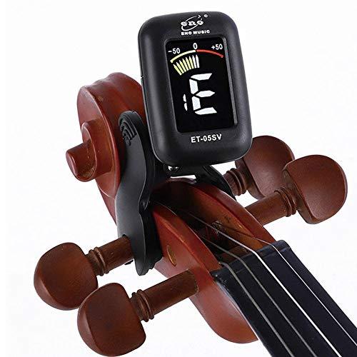Accordatore e sintonizzatore elettronico con Mini Display, Per Violino, Viola, Violoncello, con clip