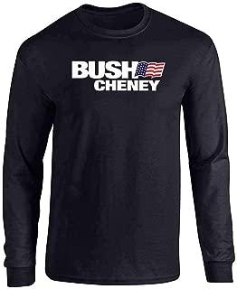 Pop Threads George W Bush Dick Cheney President Campaign Retro Full Long Sleeve Tee T-Shirt