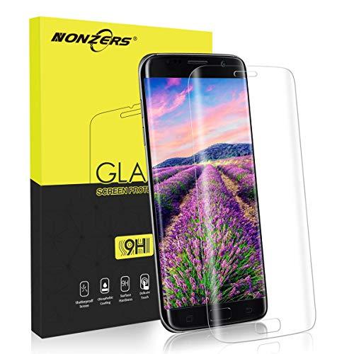 NONZERS Protector de Pantalla para Samsung Galaxy S7 Edge, Cristal Vidrio...