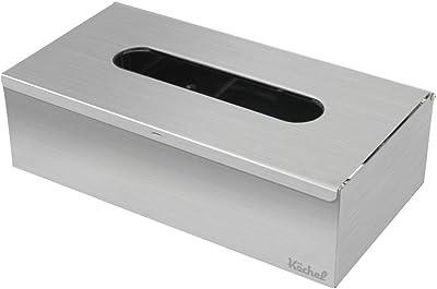 Köchel ティッシュボックス ケース ステンレス 2way 平置き ウォールマウント (選べる3色) ヘアライン仕上げ
