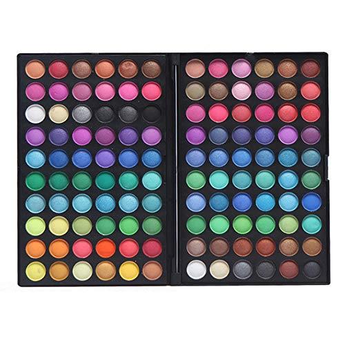 Palette Ombretti, Ruwhere 120 Colori Eyeshadow Palette Neutri Caldi Corredo di Trucco Tavolozza per Trucco Occhi Waterproof Makeup Eyeshadow Kit - Adattabile a Uso Professionale che Privato (120-2)