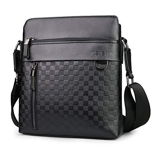 KSIBNW Men's Shoulder Bag Leather Messenger Bag Feature Briefcase...