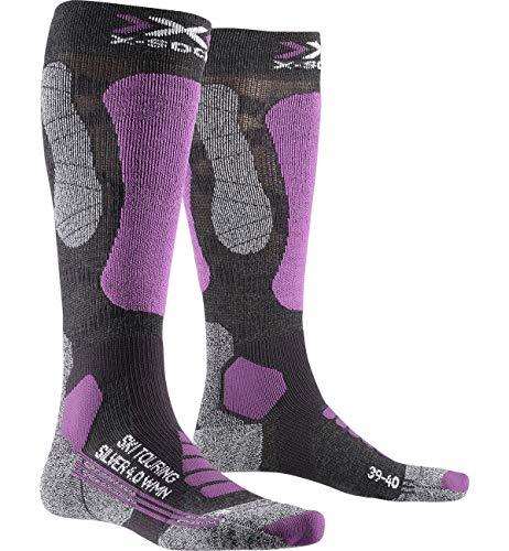 X-Socks Ski Touring Silver 4.0 Women Invierno Calcetines De Esquí, Mujer, Anthracite Melange/Magnolia, 37/38