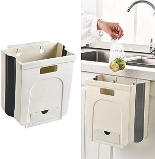 Gutsbox Kosz na śmieci kuchenny, składany, kosz na śmieci 8 l z 1 rolką, do kuchni, biura, łazienki, sypialni