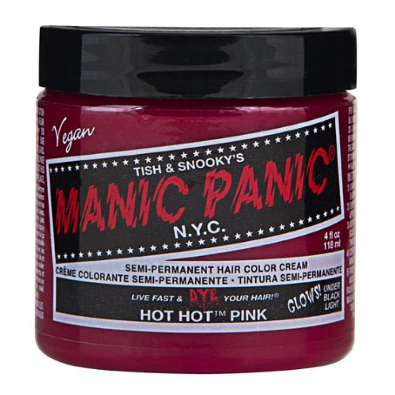 アクチュエータワックス環境マニックパニック カラークリーム ホットホットピンク