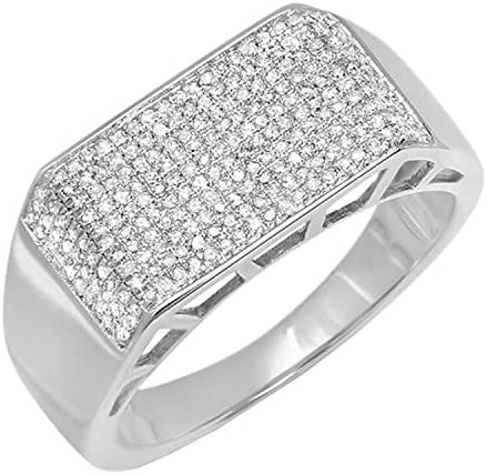 Dazzlingrock Collection 0 83 Carat ctw Round White Diamond Mens Anniversary Wedding Band Ring product image