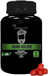 Beard Builder Gummies - Grow a Thicker, Fuller Beard - Beard Growth for Men Formula with Biotin, B12, Along with Many Other Beard Building Formulas with Vitamins and Nutrients for a Thick Beard