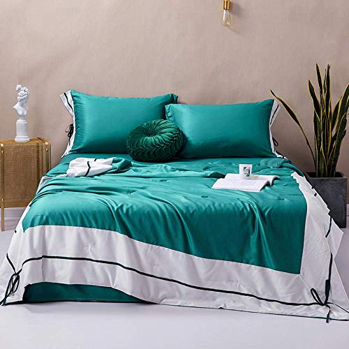 WLD zomer airconditioning quilt zomer ijs zijde airconditioning single zomer quilt-200X230Cm_Water Green 200 x 230 cm groen