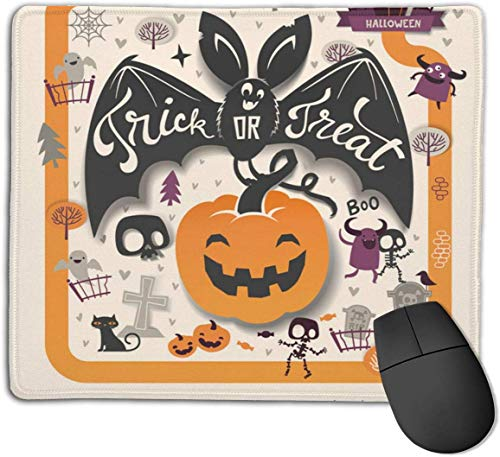 HJJL Mauspad Mousepad Anti-SlipLovely Holiday Happy Halloween Flyer Template Mouse Pad Mat Mice Mousepad Desktop Mouse pad Laptop Mouse pad Gaming Mouse pad 9.84x 11.8 inches.