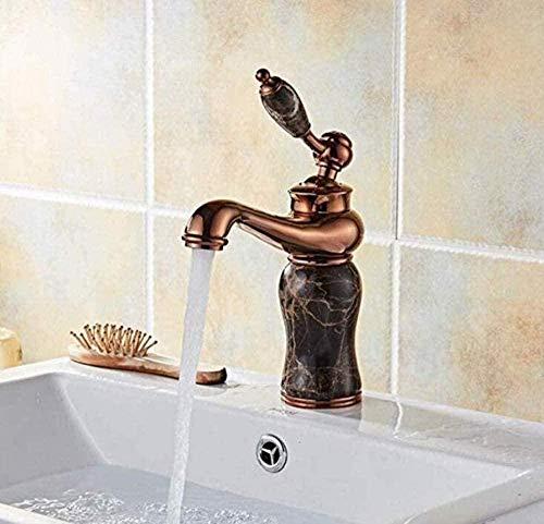 Grifos de grifo Grifos de grifo Grifo de lavabo de cobre Grifo de alargamiento retro de un solo orificio caliente y frío