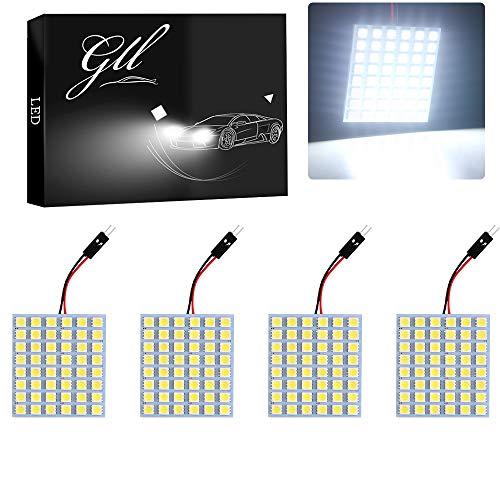 Bombillas Grandview con cable para techo de coche, luz de lectura, panel LED COB 24-SMD, 5050 con 48 LED, 4 unidades