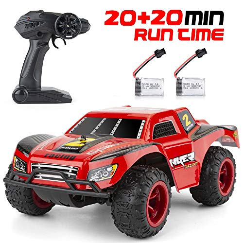 Kids Remote Control Car, 2.4Ghz RC Race Car.20km/H 1:22 Scale Radio Conrtolled Off-Road RC Car Electronic Truck, 40mins Play Time, With two batteries