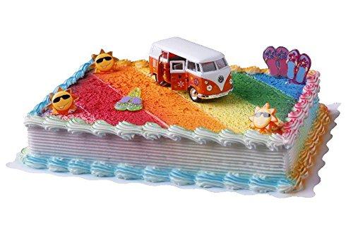 Tortendeko Flower Power Bully Cake Company mit lustigen Sonnen und Flip Flop Pickern