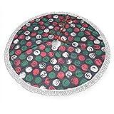 Falda de árbol de Navidad de 91,44 cm, diseño de flores abstractas con efecto de pincel, diseño floral dibujado a mano, base de árbol de Navidad, decoración de fiesta de Navidad