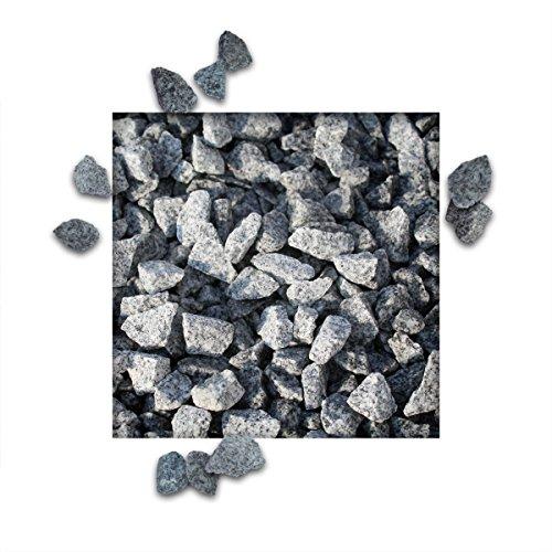 25 kg Granitsplitt Hellgrau Gartensplitt Ziersplitt Deko Granit Dekoration Splitt Körnung 8/16 mm