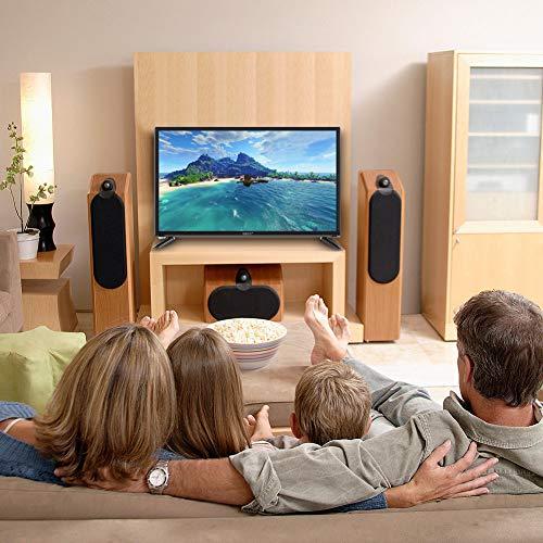 Socobeta Unterstützt USB HDMI RF-Antenneneingang TV 1366 * 768 110-240V für Home Hotel Office Meeting(European regulations)