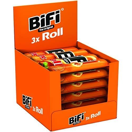 BiFi Roll – Herzhafter, original Salami Fleischsnack – Snack im Teigmantel – Multipack, 10er Pack (10 x 3 x 45 g)