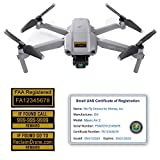 Mavic Air 2 - DJI - FAA Drone Identification Bundle - Labels (3 Sets) + FAA UAS Registration ID Card for Commercial Pilots + 3 to 12 Battery Labels