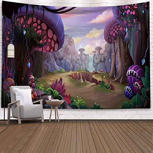 DONXIJ tapizTapiz de Seta de ensueño psicodélico Hippy casa Dormitorio Abstracto Trippy Cuento de Hadas Tapiz decoración de Pared Toalla de Playa