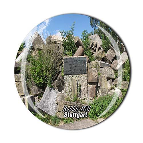 Rubble Hill Stuttgart - Imán para nevera con diseño de Alemania