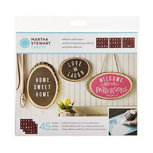 Martha Stewart Crafts 33550 Martha Stewart Striped Alphabet Silkscreens, Striped Alphabet