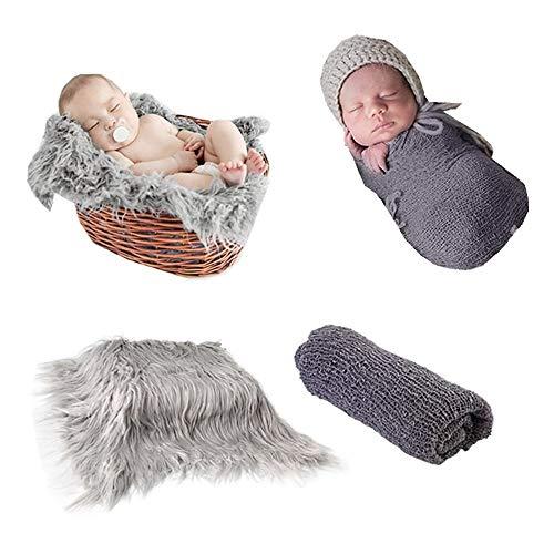 Fondo de fotografía de bebé recién nacido Alfombra de alfombra y manta...